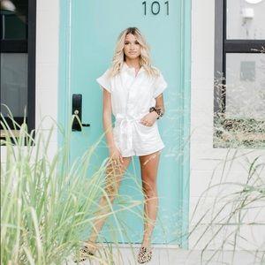 Kittenish Valentina white Romper! Brand NEW